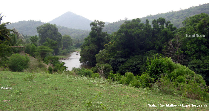 Kerala TN border marked by Bhavani River