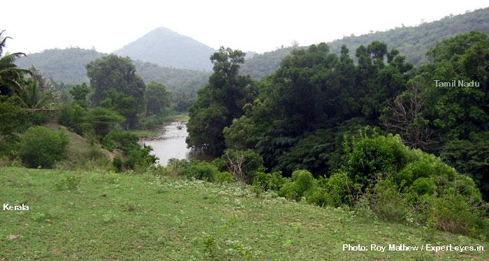 Kerala TN border marked by Bhavani River