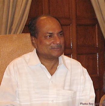 Defence Minister A. K. Antony