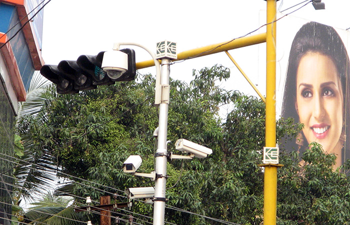 Surveillance cameras in Trivandrum