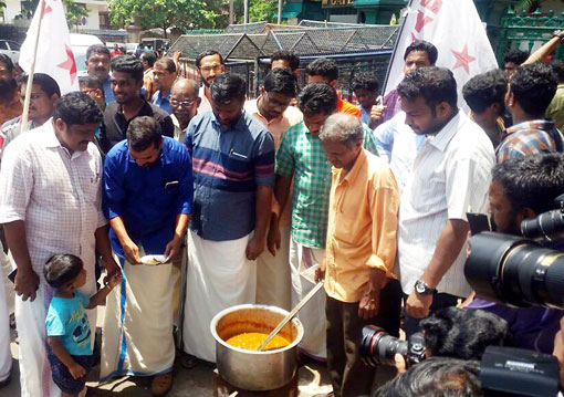 Beef fest organised by DYFI in protest against ban on sale of cattle in markets